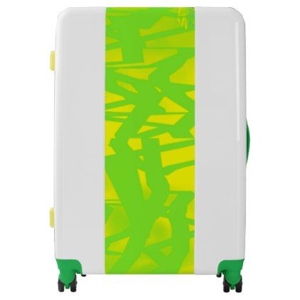 Outta Control II lemon lime UGOBAGS large suitcase - modern gifts cyo gift ideas personalize