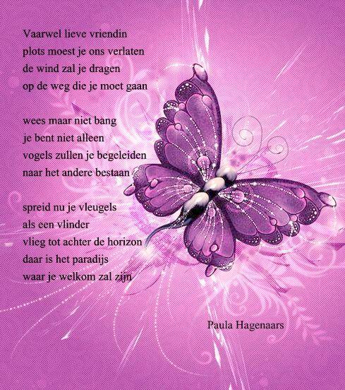 Gedichten Paula Hagenaars (geschreven na het plotseling overlijden van een vriendin)