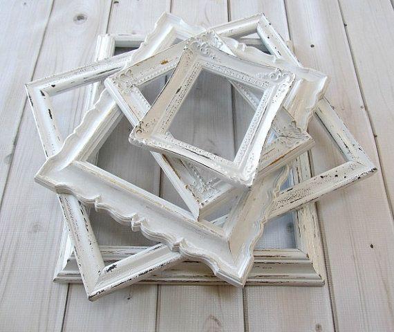 White Frame Collection Old Wood Vintage Antique Ornate Wedding Decor ...