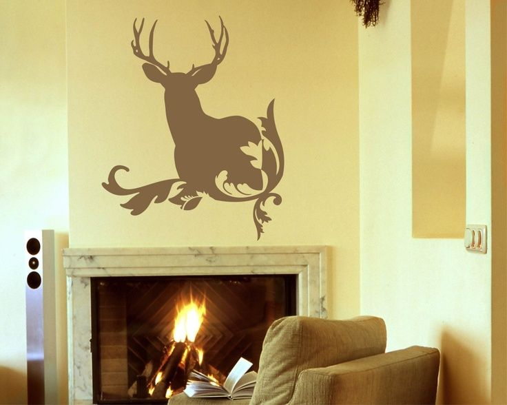 Deer Wall Decal, Rustic Home Decor, Deer Antler Wall Decals, Hunting Wall  Decal, Antler Vinyl Decal Part 83