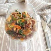 Итальянский салат с мидиями