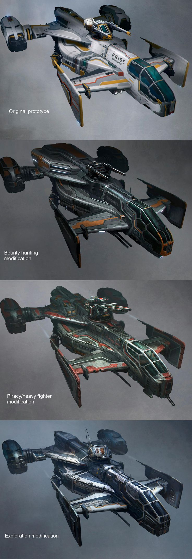 Star Citizen Cutlass Variants | Sci-Fi futuristic vehicles spaceship spacecraft