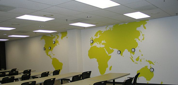 Creative Office Branding using wall graphics from Vinyl Impression, wall Graphics