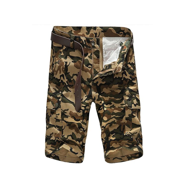 Loose Tactical Men Shorts Masculino Camouflage Cargo Military Shorts Men Cotton Shorts Men Army Short Pants
