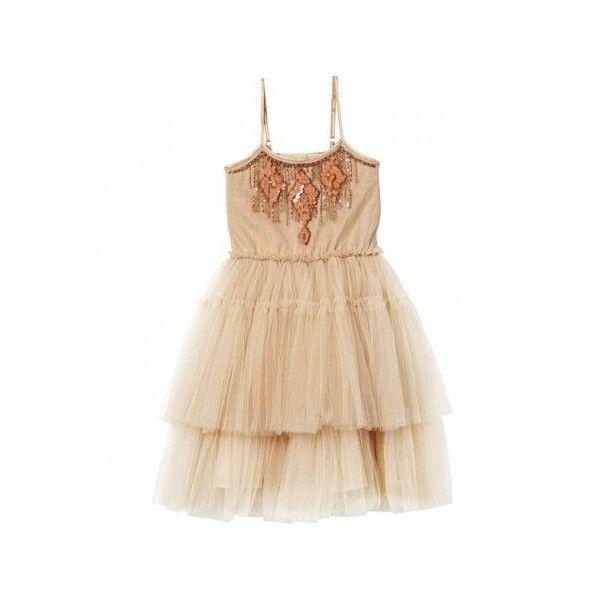 Gingersnap Tutu Dress by Tutu du Monde ❤ liked on Polyvore featuring dresses, beige dress, multi color party dress, party dresses, tulle dress and multi-color dress