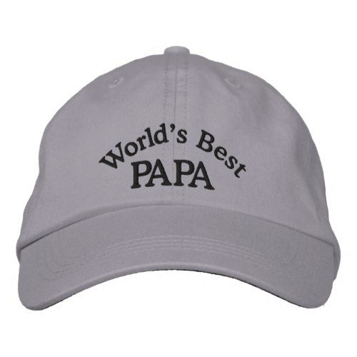 Worlds Best Papa Embroidered Hat