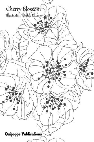 "Cherry Blossom Illustrated Weekly Planner 2018 Illustrated Calendar Schedule Organizer Appointment Book, Cherry Blossom Design CB13 Sakura Blossom Cover, 6x9"" #planners #weeklyplanners #weeklyplanners2018 #illustratedweeklyplanners2018 #illustratedweeklyp"