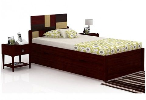 Peterson Storage Bed (Mahogany Finish)