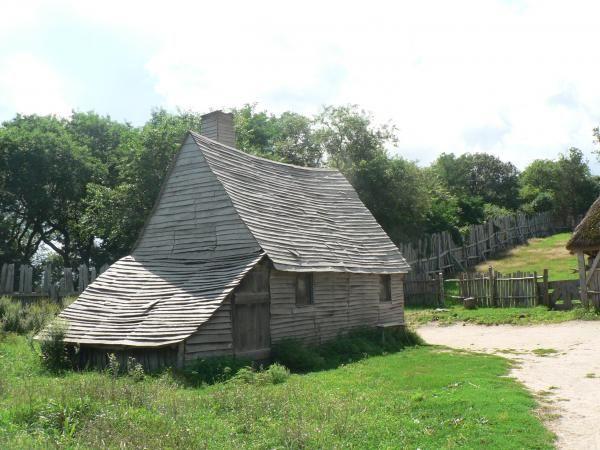 Ricostruzione Pilgrim Village  Città di Plymouth