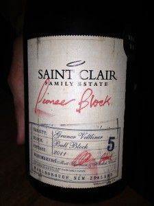 Saint Clair Gruner Veltliner 2011  Saint Clair 'Bull Block' Gruner Veltliner 2011 is the first vintage for this Marlborough winery. The grapes are taken from the Omaka Valley. All of the grapes for this wine were handpicked and some of the juice was fermented in old oak barrels, whilst the rest was fermented in stainless steel.  88 Points  4 Stars  RRP $25  http://www.unscrewed.co.nz/saint-clair-gruner-veltliner-2011/
