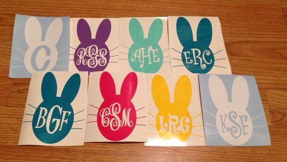 Personalized Easter Basket/ Bucket vinyl by PaisleyPeacockGifts, $5.00