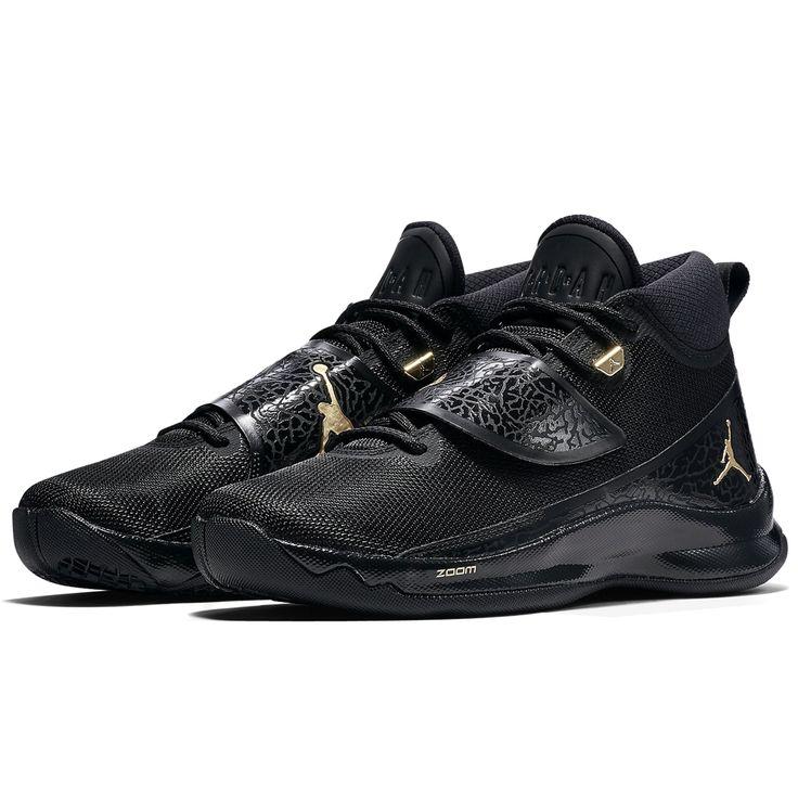 Nike Jordan Super Fly 5 PO X (914478-015) Black Metallic Gold New