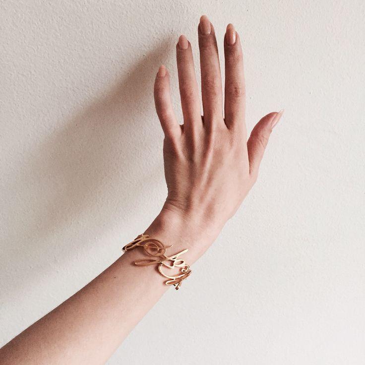 """Aytaraks gold plated letter """"walkofshame"""" bracelet 16.000 RUB"""