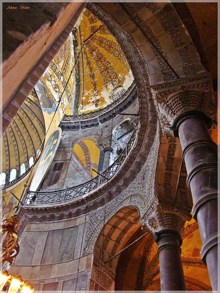 Interior details of Hagia Sophia mosque-museum_Istanbul,Turkey