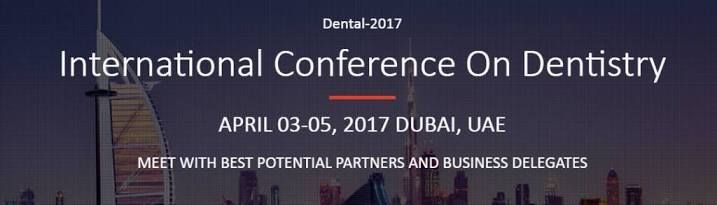 International Conference on Dental and Oral Health 17-19 Apr 2017 JW Marriott Marquis Hotel Dubai Dubai, United Arab Emirates The International Conference on Dental and Oral Health, organized by the OMICS Group Inc. will take place from 17th April to the 19th April 2017 in Dubai, United Arab Emirates. The conference will cover areas like focus on the challenges of Dentistry together towards tomorrow. The time of this conference is for three consecutive days and the venue is in Dubai, UAE.