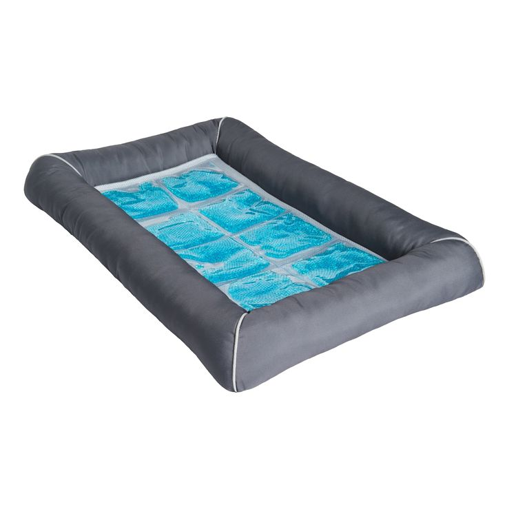 Keep your pet cool and comfortable with this TheraCool cooling gel pet bed. The wonderful and comfortable bed uses air flow cooling and CoolPhase gel cell technology to absorb and dissipate excess body heat.