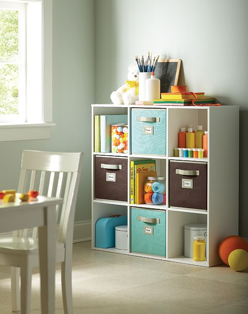 Check out this great storage solution for a play room or kids bedroom.  #MSL