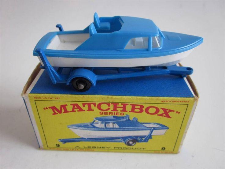 Lesney 9 Cabin Cruiser and Trailer Boat Matchbox Toy Car Mint in Original Box   eBay