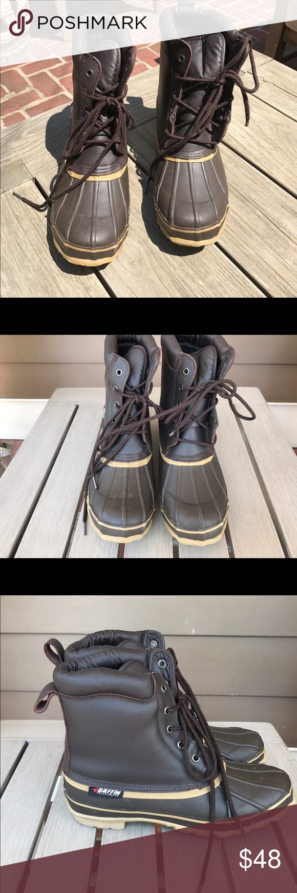 Baffin Men's Steel Shank Boots Stay safe & warm in these Men's Baffin Polar Series Steel Shank boot. This is a great boot for those cold weather months or wet rainy days. They are in brand new like condition. Please look at pictures for all the fine details Baffin Shoes Boots