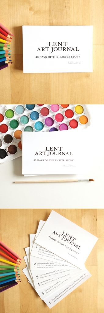Lent Art Journal - 40 days of the Easter story for the season of Lent. From The Handcrafted Story