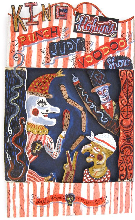 Jonny Hannah: King Hokum's Punch & Judy And Voodoo Show... Exhibited at Hornseys' in 2011