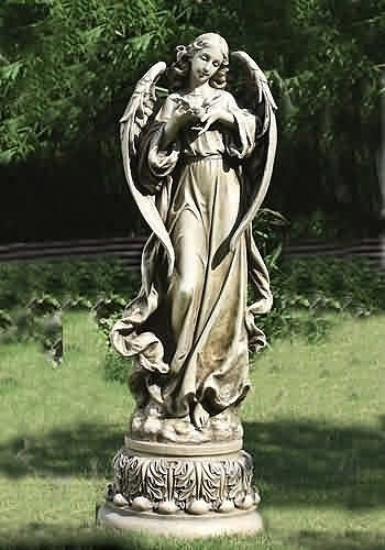 Large Angel With Dove Garden Statue For Church Large