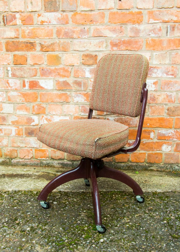 Tansad Industrial metal swivel retro office chair Mid Century by TomahawkFurniture on Etsy