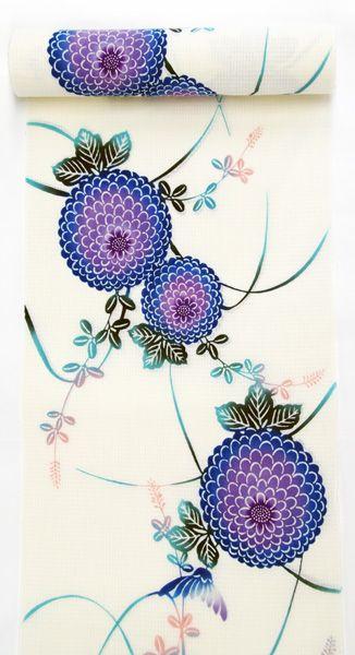 【ゆかた09】 色鮮やかな三勝染 綿紅梅のゆかたです。 綿紅梅  綿100%  価格:32,550円 yukata