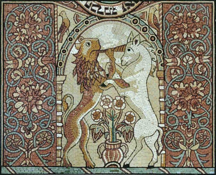 Medieval Jewish Mosaic Art Famous Medieval Art Unicorn