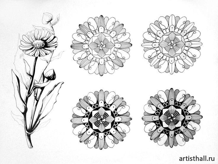 Работы наших учеников по стилизации растений-7