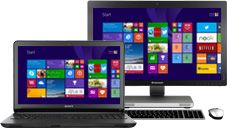 A selection of PCs running Windows8.1