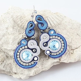 soutache earrings - Santorini Church
