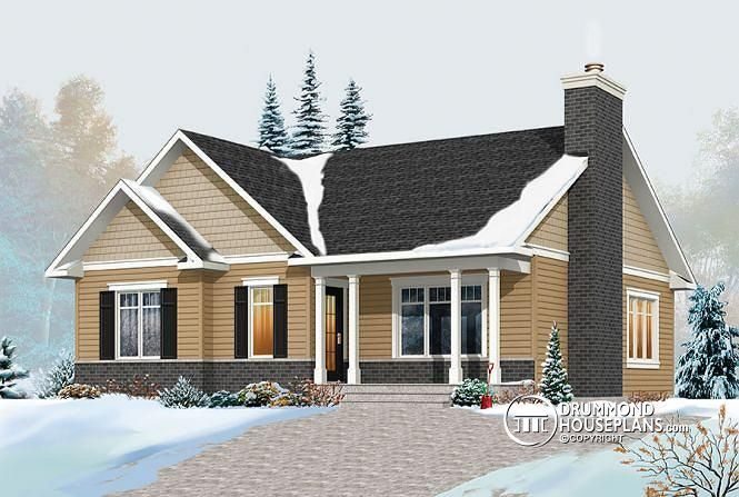 W3147 V2 Transitional Bungalow House Plan With Open