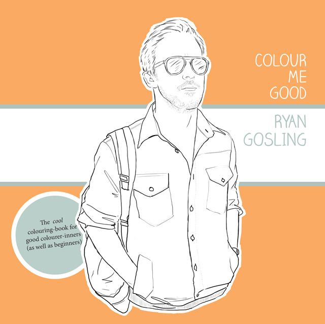 yes, that is a RYAN GOSLING coloring book.  for those who have nothing better to do on Saturday night then watch (and re-watch) the Dirty Dancing pseudoscene from Crazy Stupid Love.