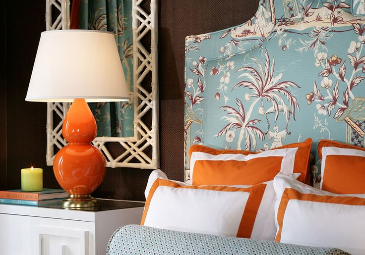 Orange Room Decorating Ideas | Eye For Design: Decorating With The Blue/Orange Color Combination