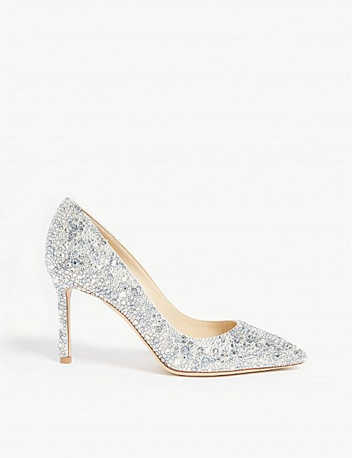 d68f73d62ef JIMMY CHOO Romy 85 crystal and suede courts | Shoes in 2019 | Jimmy ...