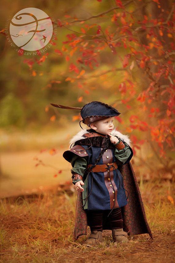 OK, so not terribly accurate, but terribly cute!  Robin Hood Boys Costume Renaissance Fair Sz 2/4 by VintageDuck, $425.00