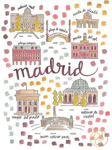 Madrid, une bien belle ville, sous la chaleur espagnole !