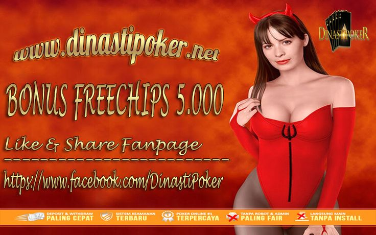 DAPATKAN FREEBET 5.000 RUPIAH #FreeChip #ChipGratis #AgenPoker #AgenDomino #PokerOnline  #PokerIndonesia #PokerTerpercaya #PokerBebasRobot