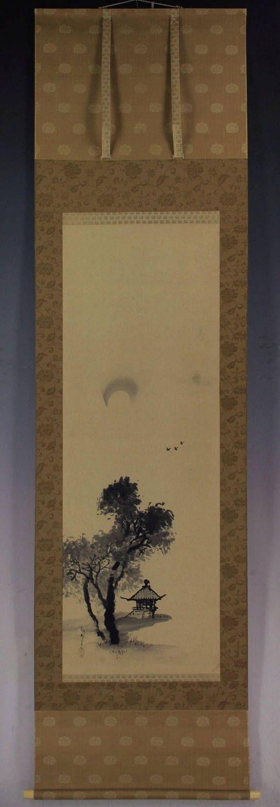 Noche de otoño. Inkwash sobre papel. Sellado. Gaho de firmado y sellado. Hashimoto Gahō (1835-1908) fue un pintor japonés, uno de los últimos para pintar en el estilo de la Escuela Kanō. Nació en Edo, Gaho estudió pintura bajo Kanō Shōsen en. Él creó muchas obras en el estilo tradicional de la Escuela Kanō, usando color y oro o lo contrario monocroma tinta negra. Algunas marcas y pliegue insignificante de luz están presentes en la pintura sí mismo, de lo contrario que la pieza se encuentra…