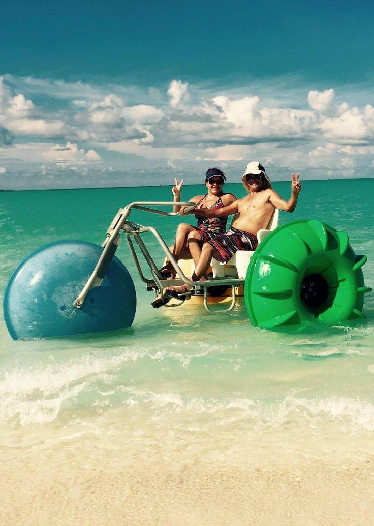 Treasure Cay, Abaco, Bahamas - water bike rentals!