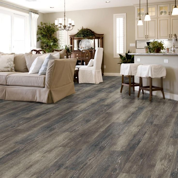 Plastic Flooring For Home: LifeProof Seasoned Wood Multi-Width X 47.6 In. Luxury