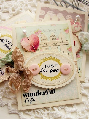 all of her creations are simply shabby chicness at its bestBlends Shabby, Creative Paper, Shabby Chic, Cards Circles, Amazing Creations, Andrea, Paper Trail, Inspiration Cards, Chic Crafts