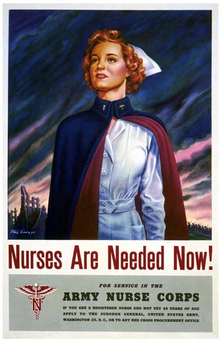 WWII poster  Army Nurse Corps