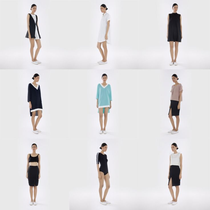 Photo collage of N.F.R.T capsule collection titled Sporty Luxe. Now available at bobobobo.com.