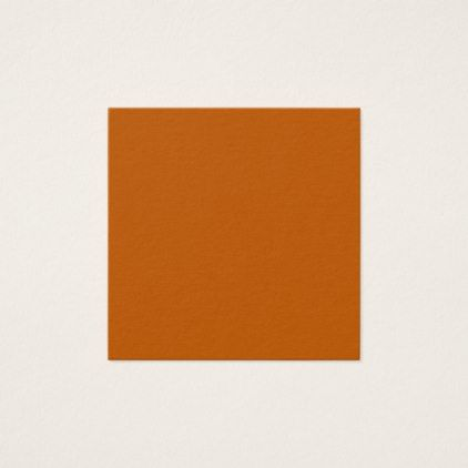 Burnt Orange Square Business Card - red gifts color style cyo diy personalize unique