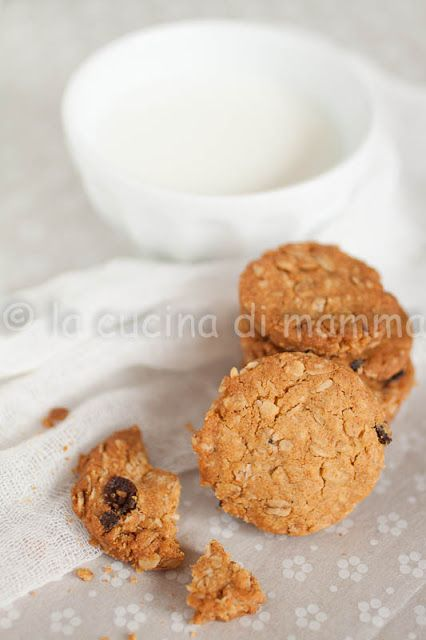 Biscotti all'avena e farina di riso