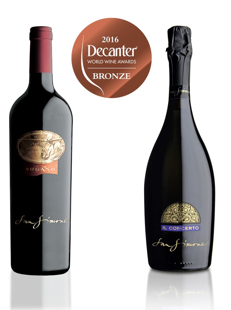 """We are pleased to inform that our #CabernetFranc """"Sugano"""" #DOC #FriuliGrave 2012 and our #Prosecco DOC #Brut """"Il Concerto"""" have recieved #Bronze medal at #DecanterWorldWineAwards 2016, #London"""
