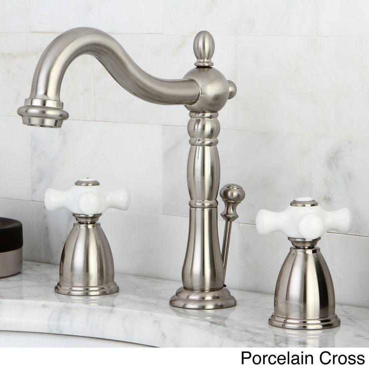 Kingston Vintage Satin Nickel Widespread Bathroom Faucet