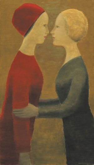 Following a rigorous bidding war, Jean Paul Lemieux's canvas, La visite nearly tripled its low estimate and sold for $719,800 (est. $250,000 - 350,000).